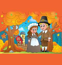 Thanksgiving theme image 7 vector