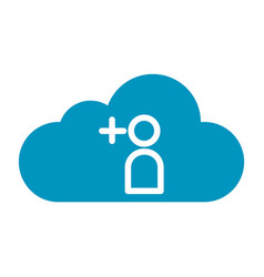 Thin line cloud contact icon vector
