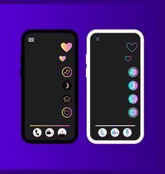 Tiktok for kids app interface vector