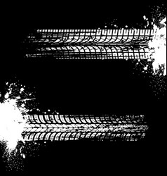Tire prints car tyre tracks isolated marks vector