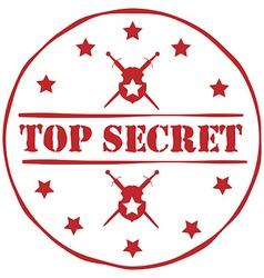 Top secret stamp vector