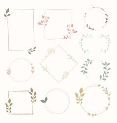 variety floral frames set vector image