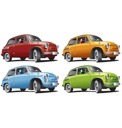 Vintage classic cars vector