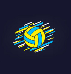 Volleyball modern abstract sports banner vector