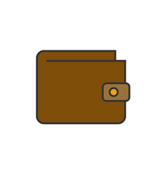 wallet flat line icon vector image
