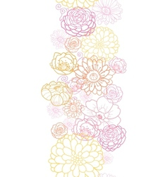 Wedding bouquet flowers vertical seamless pattern vector