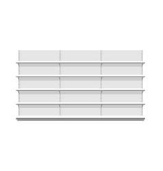 white empty store shelves vector image