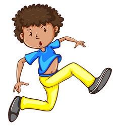 A sketch of an energetic hiphop dancer vector image