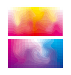 abstract colorful mosaic background polygon vector image