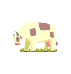 Chubby Cow Toy Farm Animal Cute Sticker vector image vector image