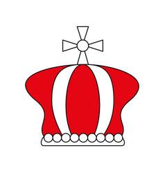 Crown pope catholic emblem icon vector