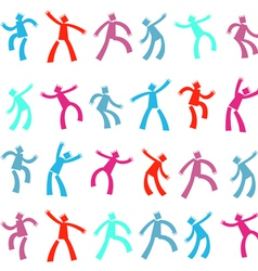 dancing Men vector image