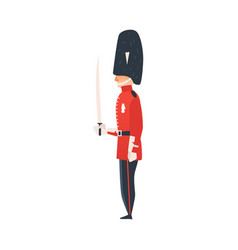 flat queen guard man isolated vector image