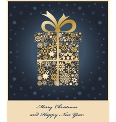 gift boxe from golden snowflakes vector image vector image