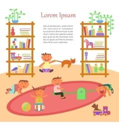 Happy childhood banner vector image