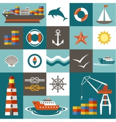 Port set vector image