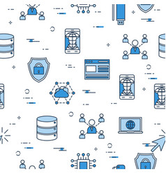 seamless pattern - internet technology icons vector image vector image