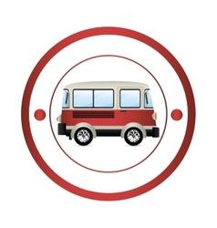 Van shipping vehicle vector image