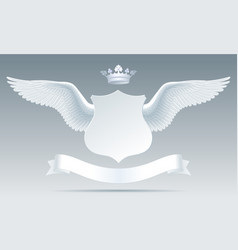 white detailed realistic wings with cut paper vector image