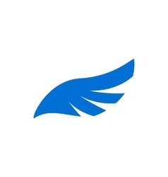 Blue angel wing icon simple style vector image