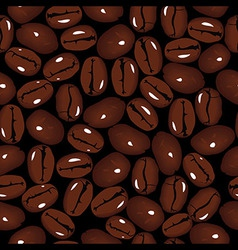 Coffee seamless beans vector image vector image