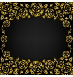 roses pattern frame vector image vector image