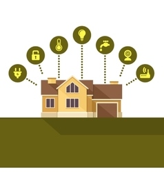 Smart House Technology Infographic Flat Style vector image vector image