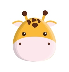cute giraffe isolated icon vector image vector image