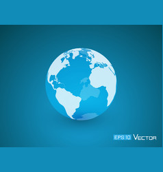 globe transparent blue vector image vector image