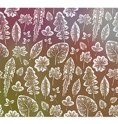 Grunge leaves background vector image