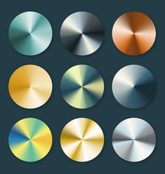 metallic silver and gold conical metal vector image vector image