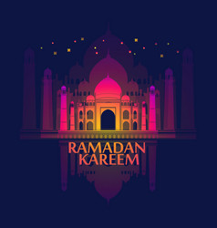 ramadan islamic holiday card greeting background vector image