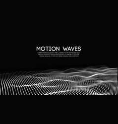 3d glowing abstract digital wave particles vector image vector image