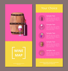wine map and your choice advantages poster icons vector image
