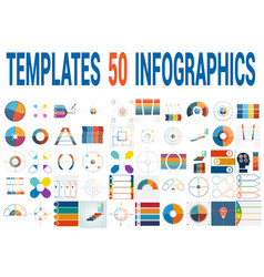 50 templates for infographics for four positions vector