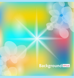 abstract background sun rays color vector image