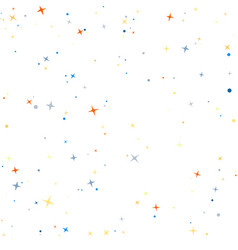 Abstract colorful star white pattern image vector