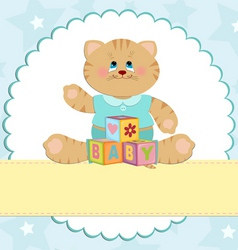 babies greetings card vector image