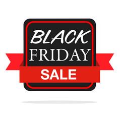 banner black friday sale ribbon image vector image