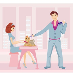 beauty salon for dogs vector image