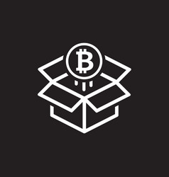 bitcoin block reward icon vector image