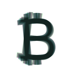 bitcoin sign colorful icon shaked with vector image vector image
