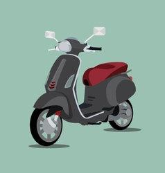 Black scooter 3d vector