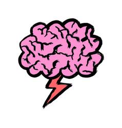 brainstorm doodle cartoon flat line stroke vector image