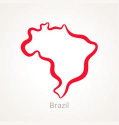 Brazil - outline map vector