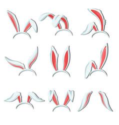 bunny ears costume element rabbit or hear body vector image