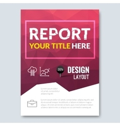 Business design triangle colorful background Pins vector image