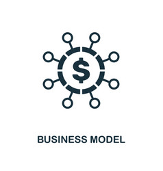 business model icon creative element design from vector image