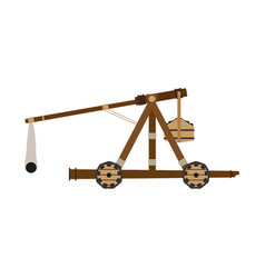 catapult weapon icon isolated wooden slingshot vector image