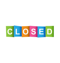 closed tag market message flat on white background vector image
